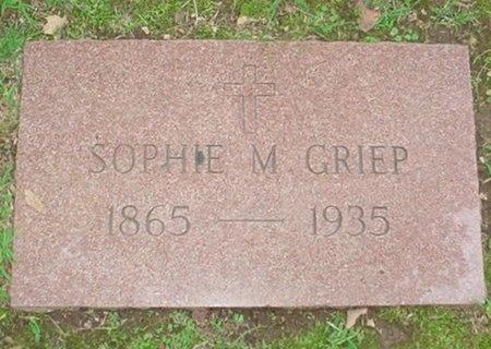 GRIEP, SOPHIE M. - Jasper County, Missouri | SOPHIE M. GRIEP - Missouri Gravestone Photos