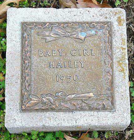 HAILEY, INFANT DAUGHTER - Jasper County, Missouri   INFANT DAUGHTER HAILEY - Missouri Gravestone Photos