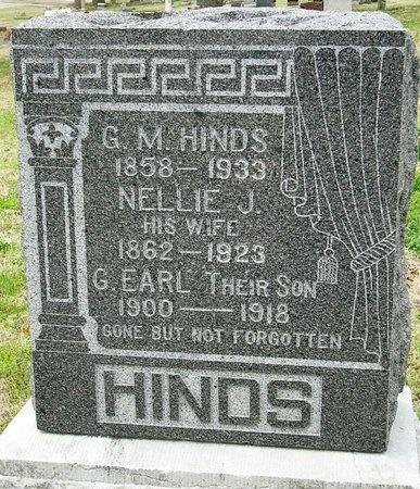 HINDS, GEORGE MARSHALL - Jasper County, Missouri | GEORGE MARSHALL HINDS - Missouri Gravestone Photos