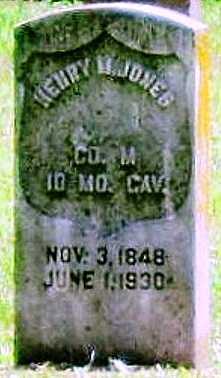 JONES, HENRY MCEUEN C VETERAN CW - Jasper County, Missouri | HENRY MCEUEN C VETERAN CW JONES - Missouri Gravestone Photos