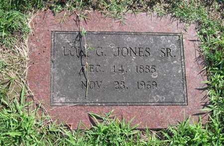 JONES, LOU G SR - Jasper County, Missouri | LOU G SR JONES - Missouri Gravestone Photos