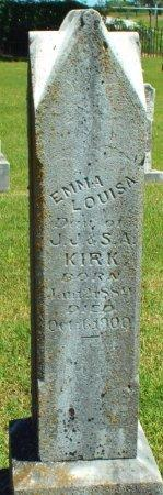 KIRK, EMMA LOUISA - Jasper County, Missouri   EMMA LOUISA KIRK - Missouri Gravestone Photos