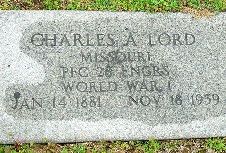 LORD, CHARLES A. (VETERAN WWI) - Jasper County, Missouri | CHARLES A. (VETERAN WWI) LORD - Missouri Gravestone Photos