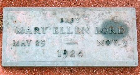 LORD, MARY ELLEN - Jasper County, Missouri   MARY ELLEN LORD - Missouri Gravestone Photos