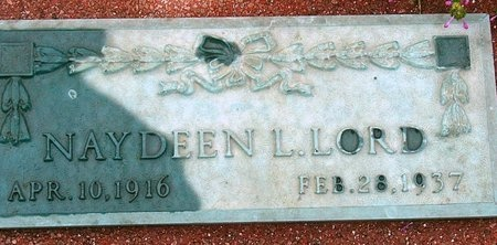 LORD, NAYDEEN L. - Jasper County, Missouri | NAYDEEN L. LORD - Missouri Gravestone Photos