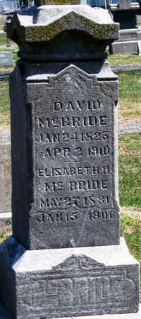 MCBRIDE, DAVID - Jasper County, Missouri | DAVID MCBRIDE - Missouri Gravestone Photos