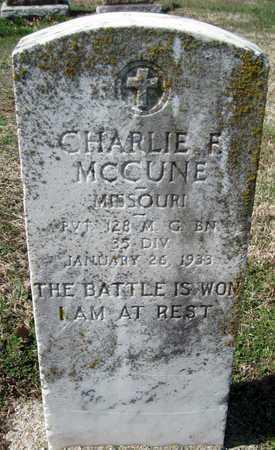 MCCUNE, CHARLIE F VETERAN WWI - Jasper County, Missouri | CHARLIE F VETERAN WWI MCCUNE - Missouri Gravestone Photos