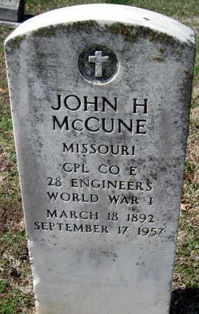 MCCUNE, JOHN H  VETERAN WWI - Jasper County, Missouri | JOHN H  VETERAN WWI MCCUNE - Missouri Gravestone Photos