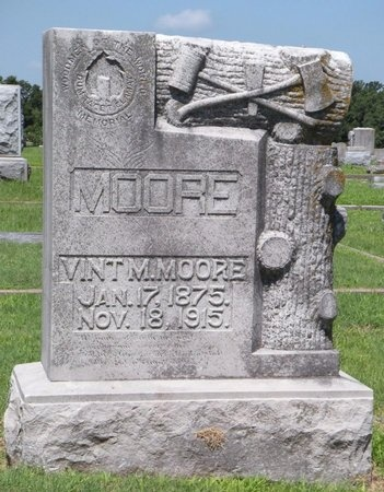 MOORE, VINTON MILBURN - Jasper County, Missouri   VINTON MILBURN MOORE - Missouri Gravestone Photos