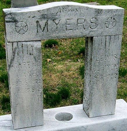 GRIFFITH MYERS, MARTHA JANE - Jasper County, Missouri | MARTHA JANE GRIFFITH MYERS - Missouri Gravestone Photos