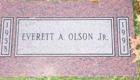 OLSON, EVERETT ATLEY JR - Jasper County, Missouri | EVERETT ATLEY JR OLSON - Missouri Gravestone Photos