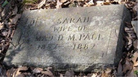 PAGE, SARAH - Jasper County, Missouri | SARAH PAGE - Missouri Gravestone Photos