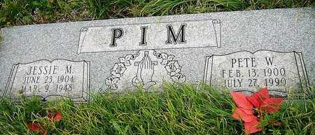 PIM, JESSIE MAY - Jasper County, Missouri | JESSIE MAY PIM - Missouri Gravestone Photos