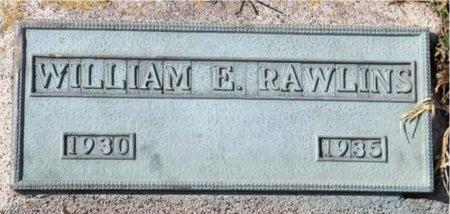 RAWLINS, WILLIAM EDWARD - Jasper County, Missouri | WILLIAM EDWARD RAWLINS - Missouri Gravestone Photos