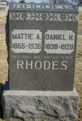 RHODES, MATTIE A - Jasper County, Missouri | MATTIE A RHODES - Missouri Gravestone Photos