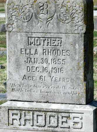 RHODES, ELLA - Jasper County, Missouri | ELLA RHODES - Missouri Gravestone Photos
