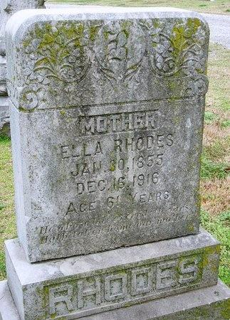 RHODES, ELLA - Jasper County, Missouri   ELLA RHODES - Missouri Gravestone Photos