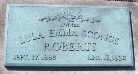 ROBERTS, LULA EMMA SCONCE - Jasper County, Missouri | LULA EMMA SCONCE ROBERTS - Missouri Gravestone Photos