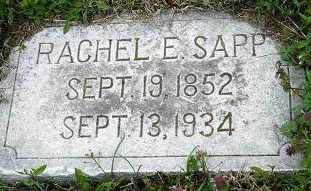 SAPP, RACHEL ELIZABETH - Jasper County, Missouri   RACHEL ELIZABETH SAPP - Missouri Gravestone Photos