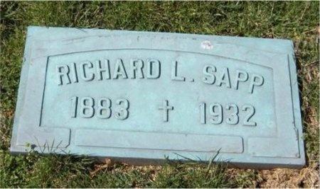 SAPP, RICHARD L - Jasper County, Missouri | RICHARD L SAPP - Missouri Gravestone Photos