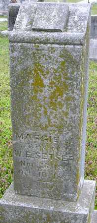 SETSER, MAGGIE J - Jasper County, Missouri   MAGGIE J SETSER - Missouri Gravestone Photos