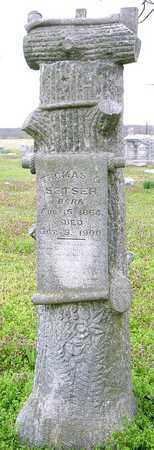 SETSER, THOMAS G. - Jasper County, Missouri | THOMAS G. SETSER - Missouri Gravestone Photos