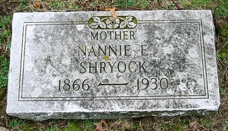 SHRYOCK, NANNIE E. - Jasper County, Missouri   NANNIE E. SHRYOCK - Missouri Gravestone Photos