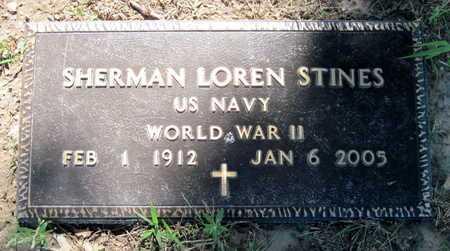 STINES, SHERMAN LOREN VETERAN WWII - Jasper County, Missouri | SHERMAN LOREN VETERAN WWII STINES - Missouri Gravestone Photos