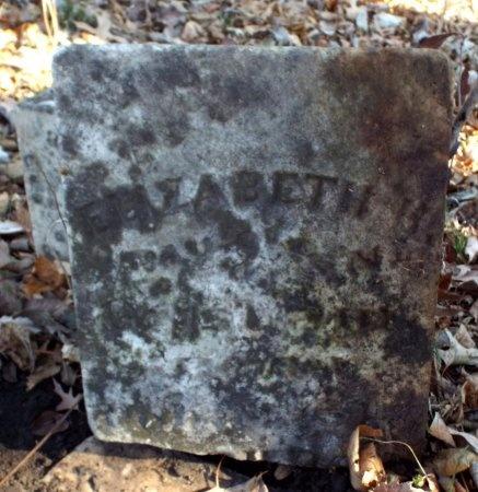 UNKNOWN, ELIZABETH - Jasper County, Missouri | ELIZABETH UNKNOWN - Missouri Gravestone Photos