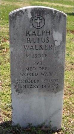 WALKER, RALPH RUFUS (VETERAN WWI) - Jasper County, Missouri   RALPH RUFUS (VETERAN WWI) WALKER - Missouri Gravestone Photos