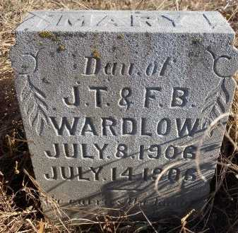 WARDLOW, MARY - Jasper County, Missouri | MARY WARDLOW - Missouri Gravestone Photos