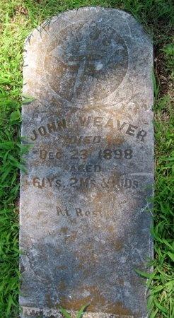 WEAVER, JOHN - Jasper County, Missouri | JOHN WEAVER - Missouri Gravestone Photos