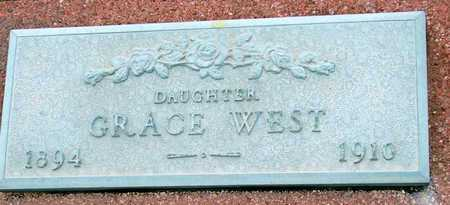 WEST, GRACE - Jasper County, Missouri | GRACE WEST - Missouri Gravestone Photos