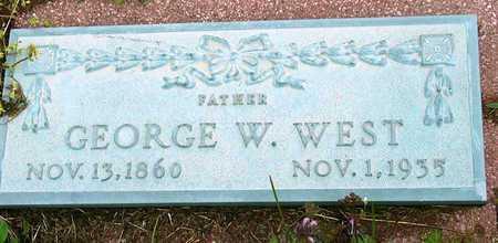 WEST, GEORGE W - Jasper County, Missouri | GEORGE W WEST - Missouri Gravestone Photos