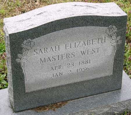 WEST, SARAH ELIZABETH - Jasper County, Missouri   SARAH ELIZABETH WEST - Missouri Gravestone Photos
