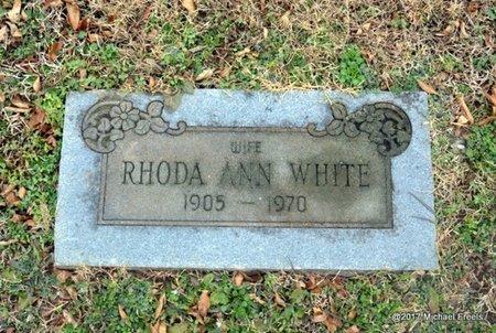 WHITE, RHODA ANN - Jasper County, Missouri | RHODA ANN WHITE - Missouri Gravestone Photos