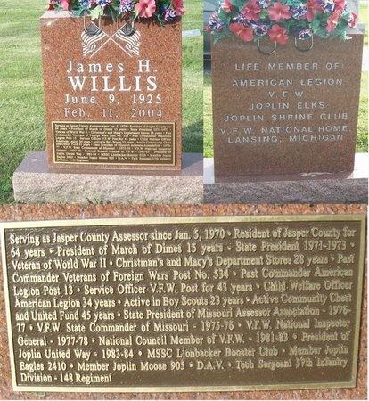 WILLIA, JAMES H. - Jasper County, Missouri | JAMES H. WILLIA - Missouri Gravestone Photos
