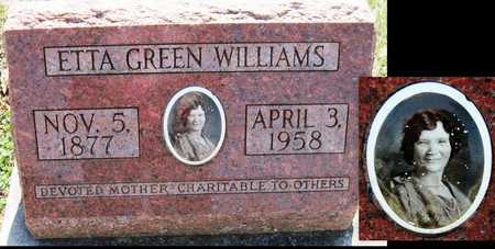 PLATT WILLIAMS, ETTA GREEN - Jasper County, Missouri | ETTA GREEN PLATT WILLIAMS - Missouri Gravestone Photos