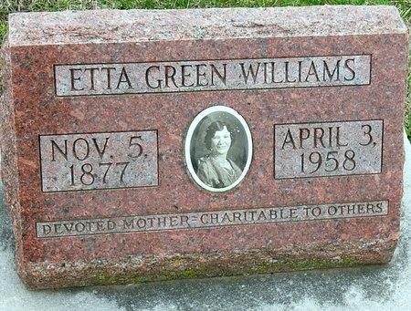 PLATT WILLIAMS GREEN, ETTA ROSALIN - Jasper County, Missouri   ETTA ROSALIN PLATT WILLIAMS GREEN - Missouri Gravestone Photos