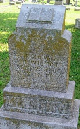 WILMOTH, GEORGIA - Jasper County, Missouri | GEORGIA WILMOTH - Missouri Gravestone Photos