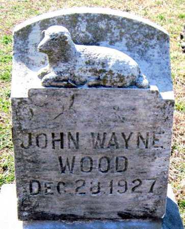 WOOD, JOHN WAYNE - Jasper County, Missouri | JOHN WAYNE WOOD - Missouri Gravestone Photos