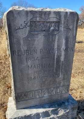 WORKMON, RUEBEN PETER - Jasper County, Missouri | RUEBEN PETER WORKMON - Missouri Gravestone Photos