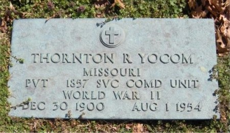 YOCUM, THORNTON R (VETERAN WWII) - Jasper County, Missouri | THORNTON R (VETERAN WWII) YOCUM - Missouri Gravestone Photos