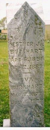 BURKHART BURKHART, ESTHER J. - Knox County, Missouri | ESTHER J. BURKHART BURKHART - Missouri Gravestone Photos