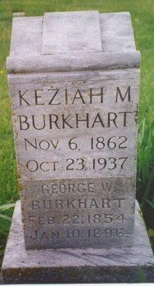 BURKHART, KEZIAH MARIAH - Knox County, Missouri | KEZIAH MARIAH BURKHART - Missouri Gravestone Photos