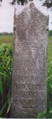 BROWN BURKHART, RACHEL A - Knox County, Missouri | RACHEL A BROWN BURKHART - Missouri Gravestone Photos