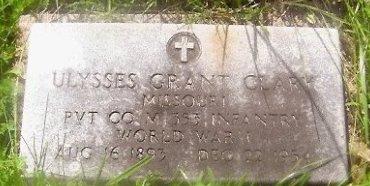 CLARY, ULYSSES GRANT (VETERAN WWII) - Knox County, Missouri   ULYSSES GRANT (VETERAN WWII) CLARY - Missouri Gravestone Photos