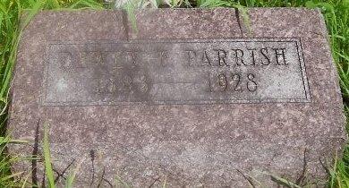 PARRISH, DEWEY FOREST - Knox County, Missouri | DEWEY FOREST PARRISH - Missouri Gravestone Photos