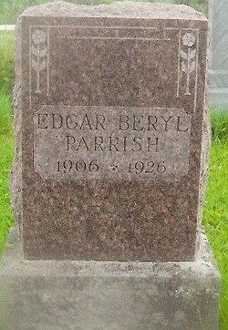 PARRISH, EDGAR BERYL - Knox County, Missouri   EDGAR BERYL PARRISH - Missouri Gravestone Photos