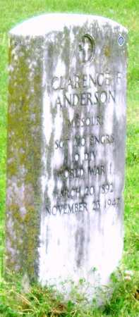 ANDERSON, CLARENCE F (VETERAN) - Lawrence County, Missouri | CLARENCE F (VETERAN) ANDERSON - Missouri Gravestone Photos